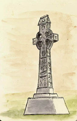 This is a Celtic Cross in Artillery Park. 3x5 and done with a Pilot Prera.