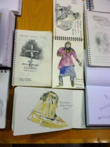 Group of sketches