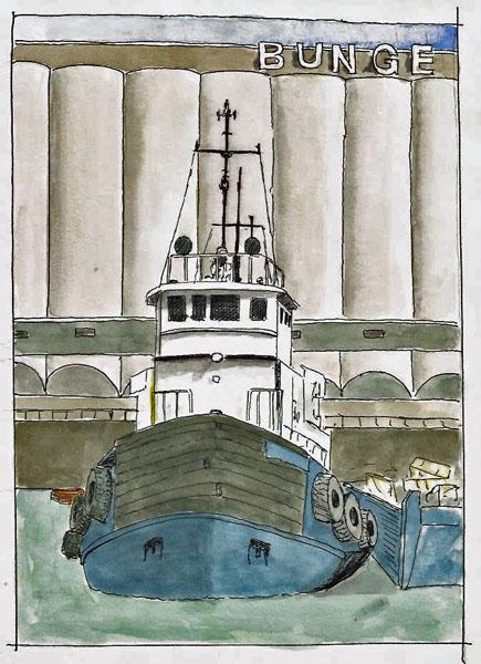 Quebec City Tugboat