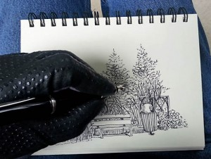 sketching glove in action
