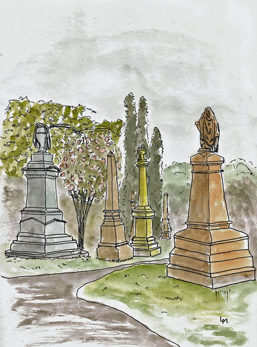 Mt Herman cemetery scene