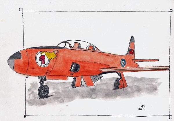 T-33 (Stillman & Birn Alpha 10x7, Pilot Falcon, DeAtramentis Black ink)