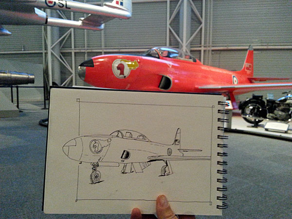 T33 sketch with inspiration