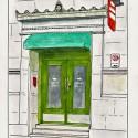 Quebec Assurance Building door