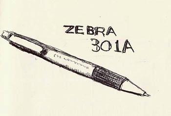 Zebra 301A ballpoint pen