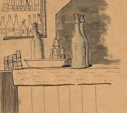 tan paper sketchbook, Sailor calligraphy pen, De Atramentis Document Black
