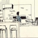 3x5 sketchbook, Pilot Falcon, Platinum Carbon Black