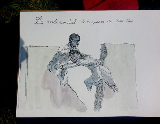 Claudette's sketch