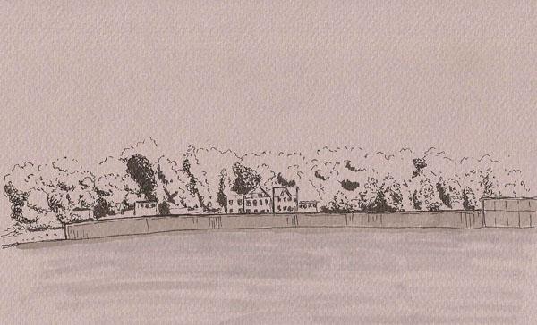 Canson Mi-Teintes paper, Namiki Falcon, De Atramentis Document ink
