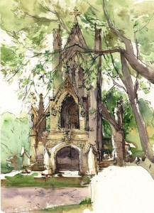 Marc's Cemetery painting