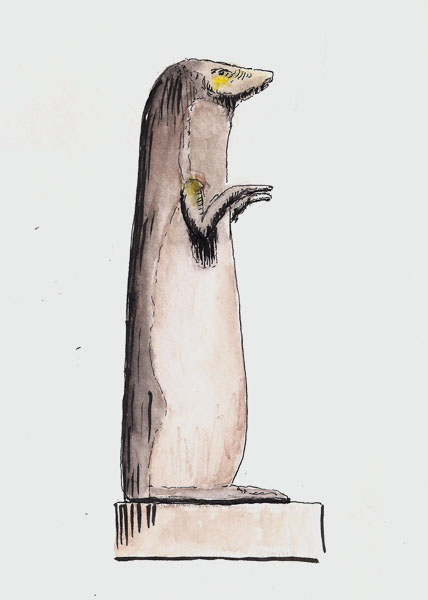 Egyptian river otter statue