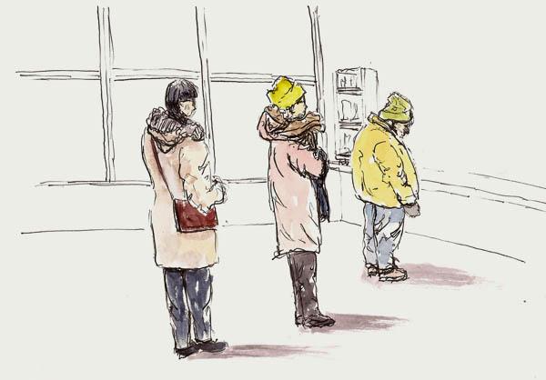 People waiting to order at McDonalds - Platinum 3776, Platinum Carbon Black