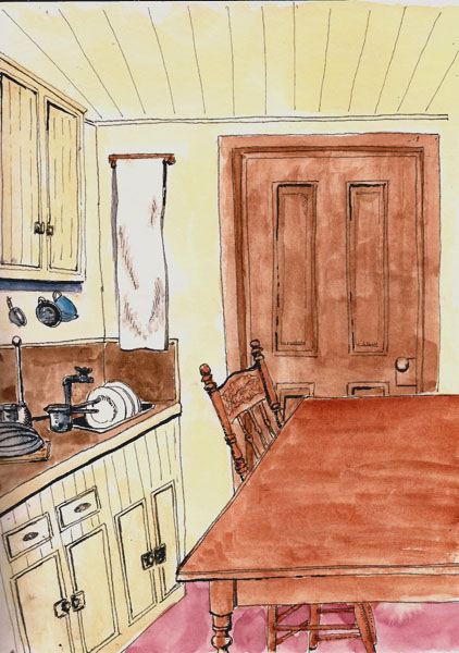 3 Responses To Old Time Kitchen Sketching
